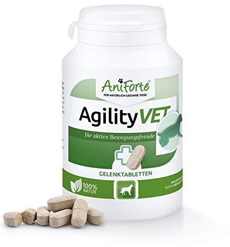 AniForte AgilityVet Gelenk-Tabletten für Hunde 120 Stück, Mit Kollagen, Grünlippmuschel-Pulver, Teufelskralle, Weihrauch und Omega-3 Extrakt, Hyaluron-Säure, Glucosamin, Deutsches Produkt