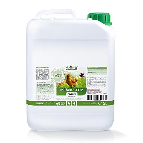 AniForte Milben-Stop Flüssig 5 Liter - Naturprodukt für Geflügel gegen Milben und Parasiten, Ideal Zum Nachfüllen von AniForte Milben Stop Spray