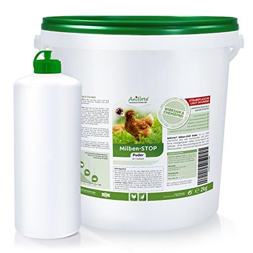 AniForte Milben Stop Puder 10 Ltr. + Puderflasche-gegen rote Vogelmilben, Schädlinge